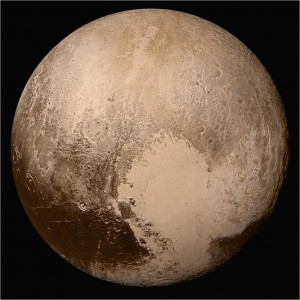 Photograph of Pluto from New Horizons spacecraft.