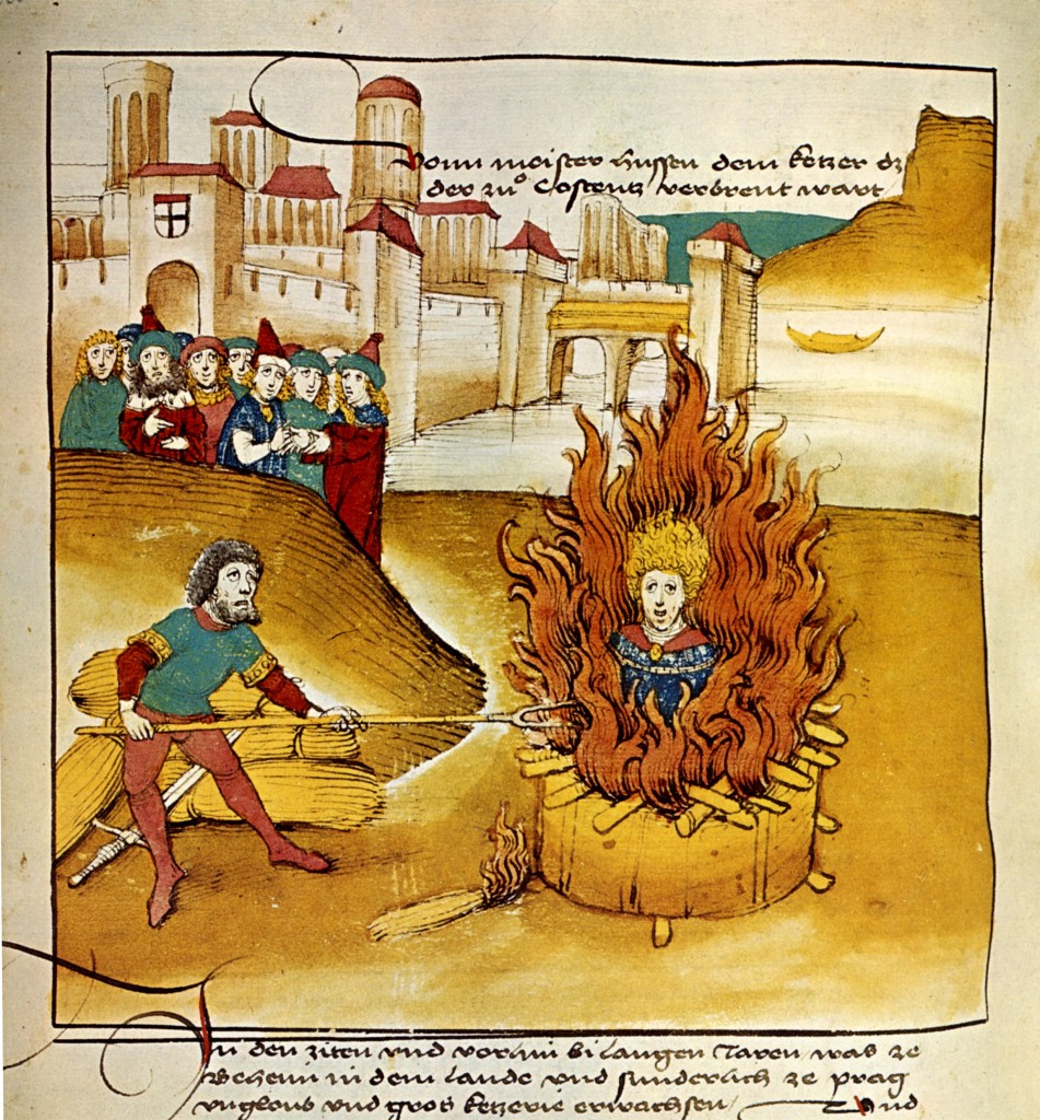 Depiction of Hus' Execution